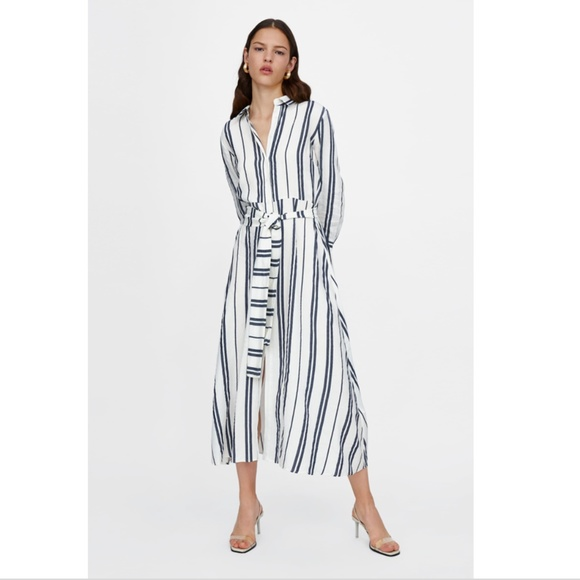 a462f298 Long Striped Tunic A-line Dress from ZARA. M_5b563f6c7386bc140320a2f9